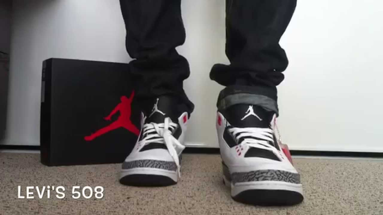 595aee4e78dc7d Air Jordan 3   Infrared 23   On Feet - YouTube