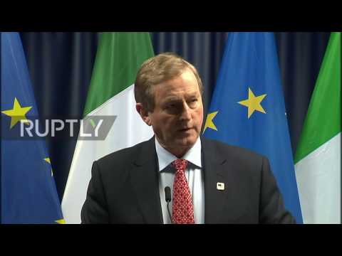 Belgium: Irish Taoiseach welcomes EU's united Ireland agreement