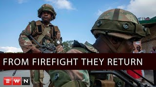 As soldiers return from the Democratic Republic of Congo after a year deployed abroad, often engaged in firefights with enemy combatants, and sharing some of their stories with EWN, new troops get ready to ship out.