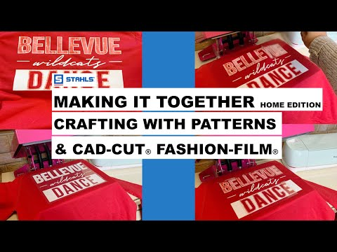 Decorating T-shirts With CAD-CUT Fashion-FILM And Patterns HTV | Making It Together Home Edition