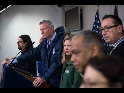 Mayor de Blasio Hosts Press Conference to Discuss Winter Weather