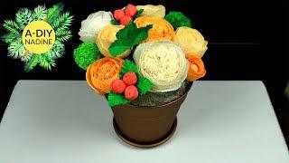 Цветы из бумаги. Букет из роз Nadine DIY