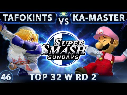 SSS 46 - Tafokints (Sheik) Vs. Ka-Master (Luigi) SSBM Top 32 Winners Round 2 - Smash Melee