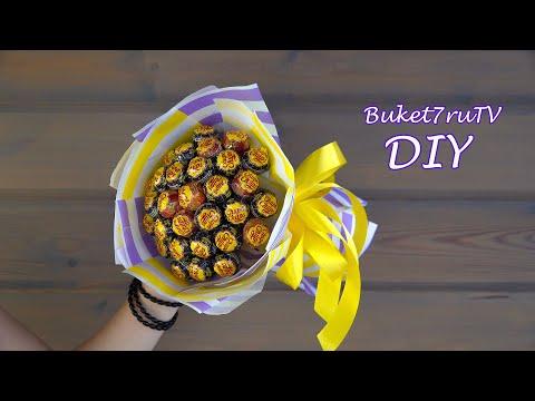 Букет из чупа чупсов. DIY Buket7ruTV своими руками.