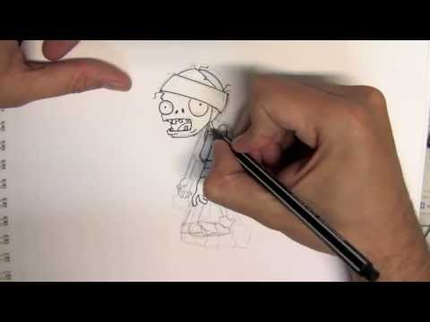 How to draw a mummy zombie from Plants Zombies