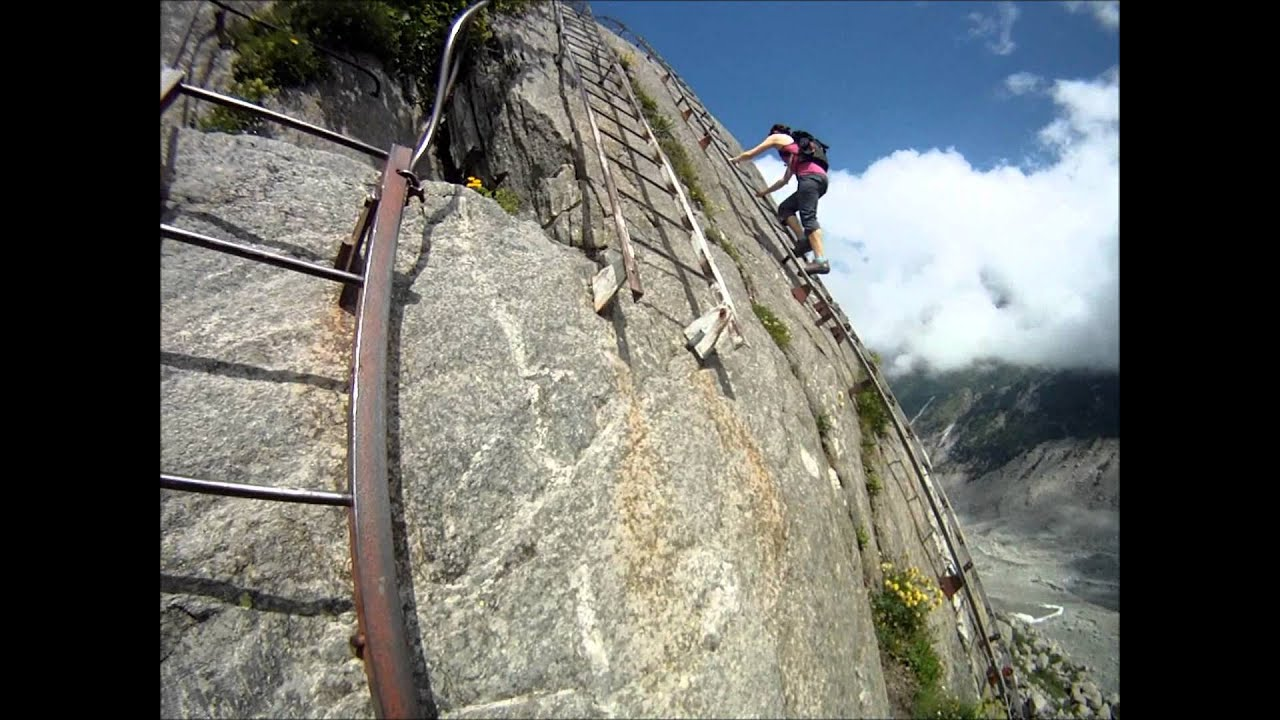 Klettersteig Chamonix : Climbing the via ferrata in chamonix france youtube