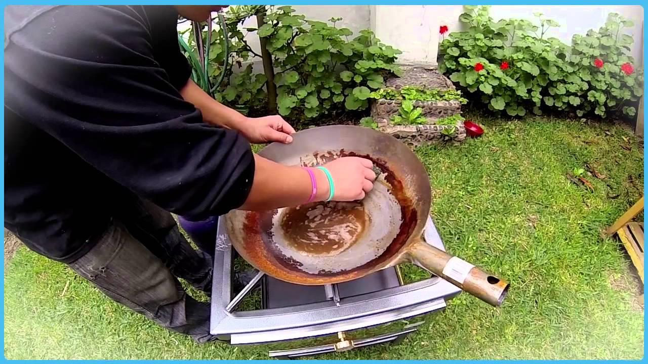 C mo limpiar el xido de tu sart n wok youtube - Limpiar plancha cocina ...