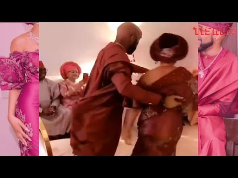 Unseen video clip of Banky W raditional Introduand Adesua Ewatomi tction #BAAD2018 thumbnail