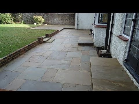 Block Paving Time lapse...Indian Stone Patiohttp:/oaklands-landscaping