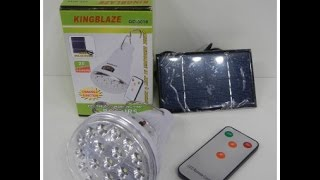 LED Светильник Solar Led Light KINGBLAZE GD-5016 c ДУ(Фонарики на солнечных батареях, в наличии, от 70 грн.! Доставка по всей Украине! http://fils.etov.ua., 2015-06-23T10:51:06.000Z)