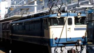 【JR貨物】高速通過!! EF65-2121牽引5087レ @高槻駅