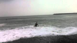あやまんJAPANと初サーフィン.