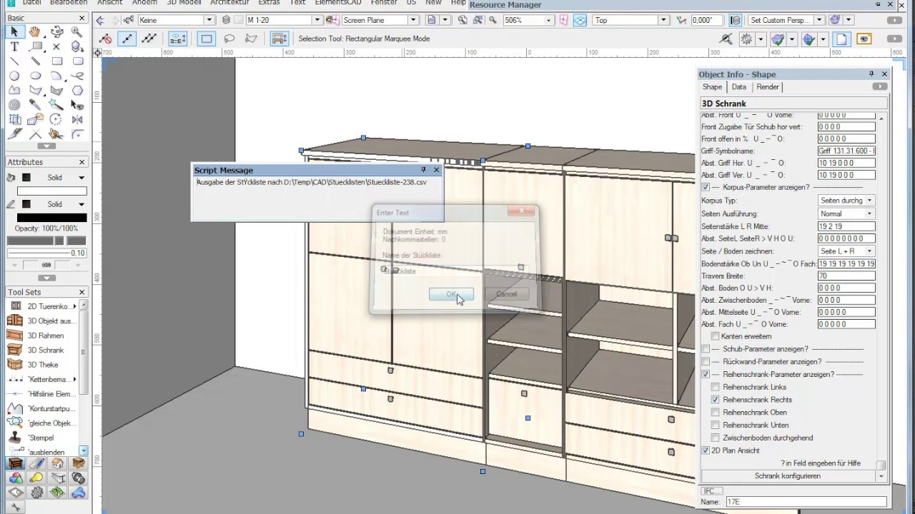 tischler cad modul elementscad f r vectorworks deutsch On zeichenprogramm tischler