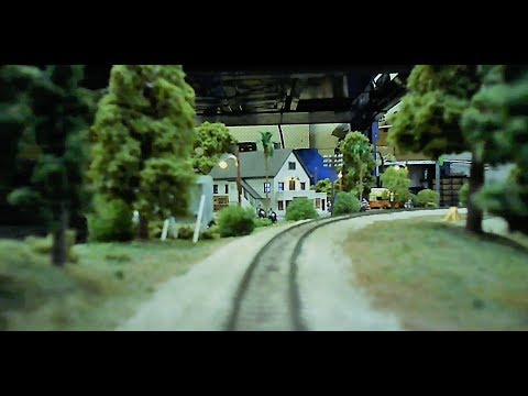 "Cab Ride on the Southern Pacific ""Cascades"" N Scale layout"