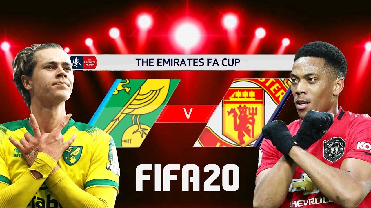FIFA 20 | นอริช VS แมนยู | ยิงประตูสุดสวย !! FA CUP รอบ 8 ทีมสุดท้าย