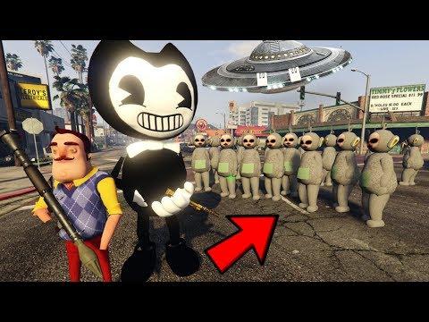 ¿PODRÁ BENDY GANAR LA INVASIÓN DE SLENDYTUBBIES? (GTA 5 Mods)