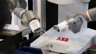 abb robotics dual arm concept robot at irex 2013