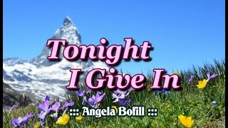 Tonight I Give In - Angela Bofill (KARAOKE)