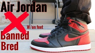 """""""Banned/Bred"""" Air Jordan 1 W/ On Foot Review 2016"""