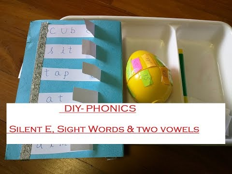 DIY Phonics Activities - silent e , two vowels, sight words