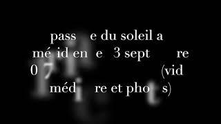 Equinoxe d'automne – 23 septembre 2017 – Observations de Vincent B pour le challenge de Wolfie6020