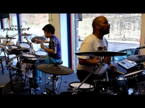 Paul Mills & Little B Mills V-Drum duet