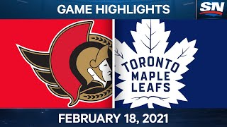 NHL Game Highlights   Senators vs. Maple Leafs - Feb. 18, 2021