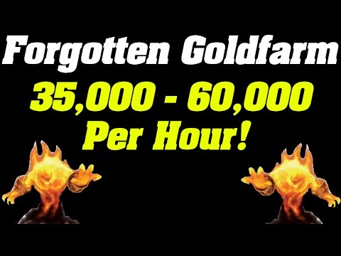Forgotten Goldfarm: 35,000g - 60,000g Per Hour!  | Steady Gold Farm |