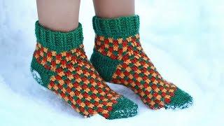 Носки крючком | Как связать носки крючком