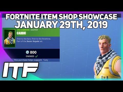 Fortnite Item Shop *NEW* CABBIE SKIN! [January 29th, 2019] (Fortnite Battle Royale)