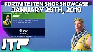 Fortnite Item Shop *NEW* CABBIE SKIN! [January 29th, 2019] (Fortnite Battle Royale)