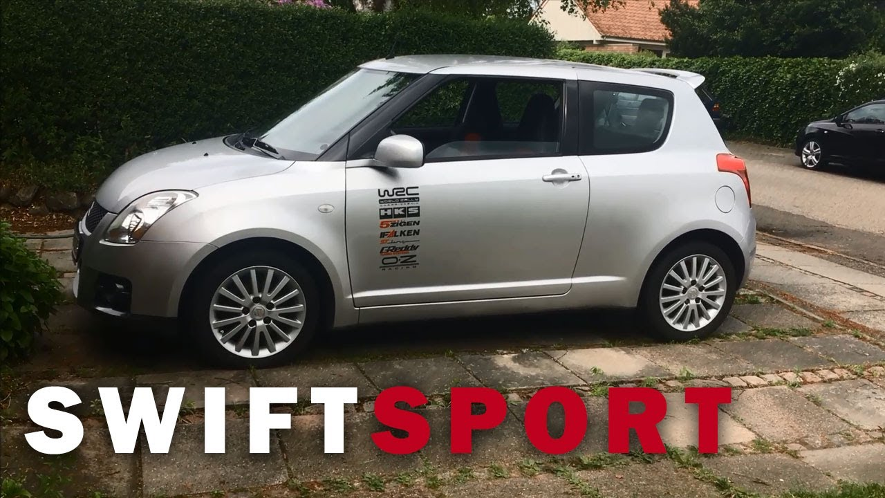 suzuki swift sport 1 6 stikers decal walkaround mk1 black and silver rims youtube. Black Bedroom Furniture Sets. Home Design Ideas