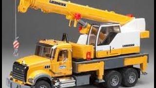 Bruder Mack Granite Liebherr Camión Grúa de Juguete para Niños