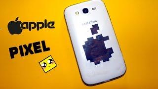 Рисуем по клеточкам-ЛОГОТИП APPLE/ iPhone (logo APPLE/ iPhone 7)PIXEL ART