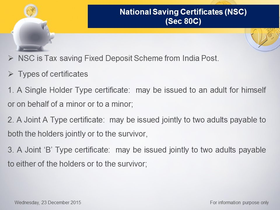 National Saving Certificates Nsc How To Save Tax Part 4