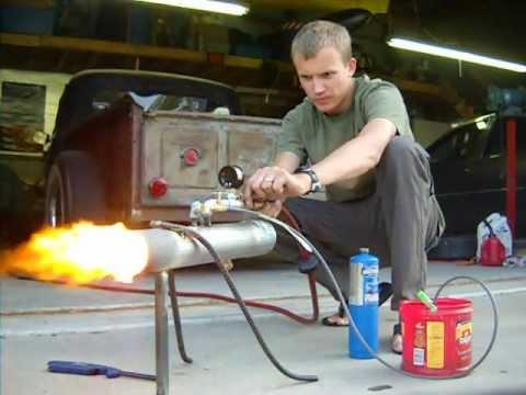 Waste oil heater