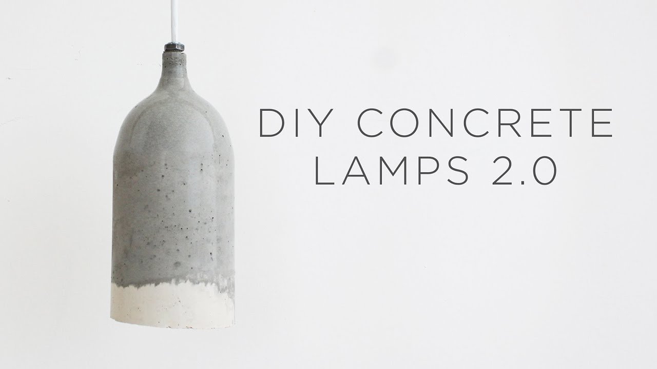 Diy Concrete Pendant Lamps 2 0 Design Updates Youtube