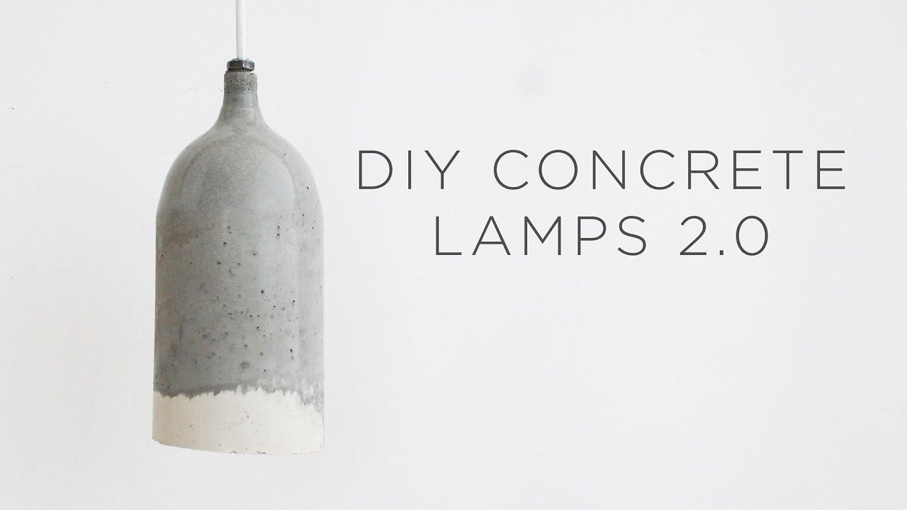 DIY Concrete Pendant Lamps 2.0 | Design updates - YouTube