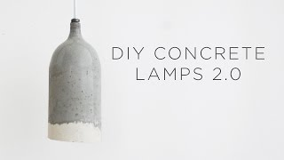 DIY Concrete Pendant Lamps 2.0 | Design updates