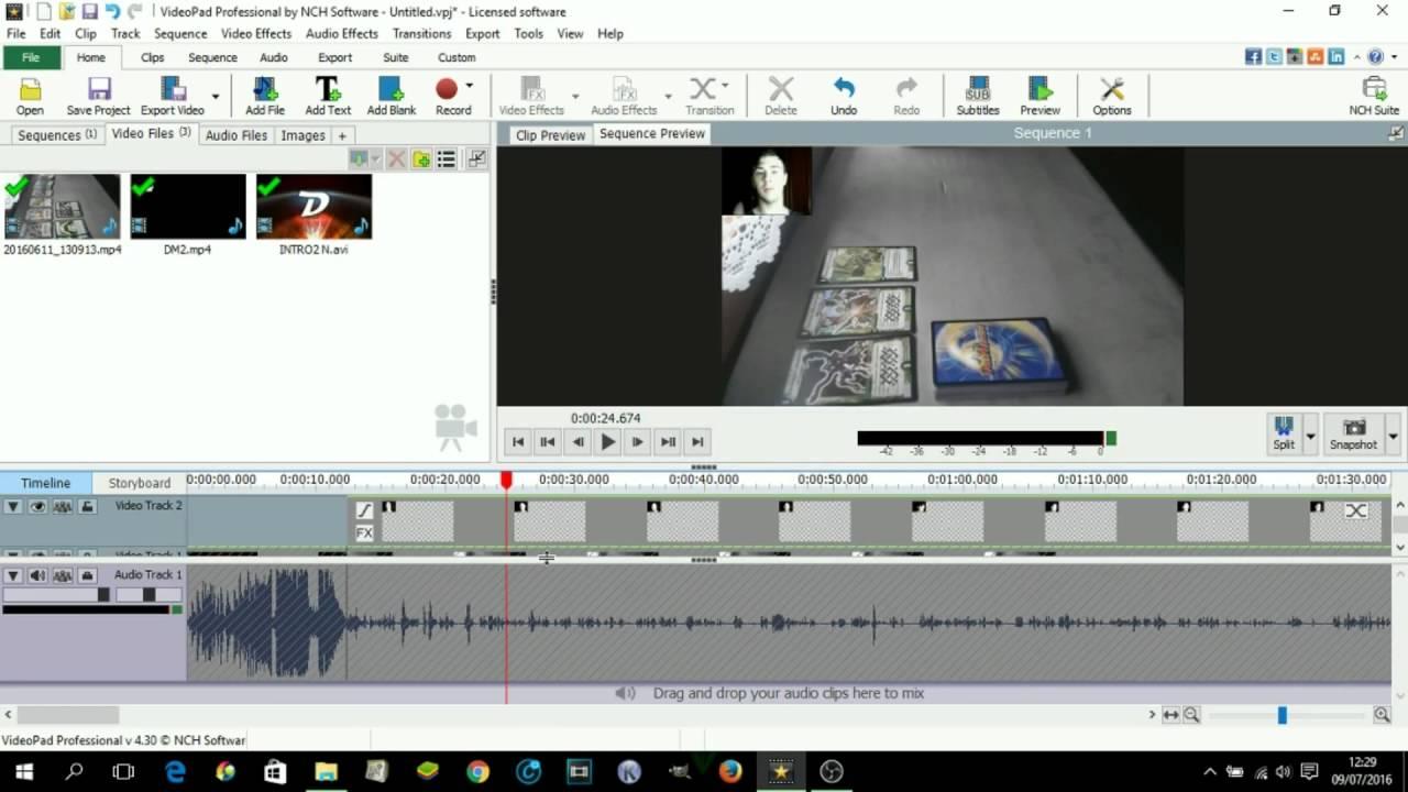 videopad in italiano