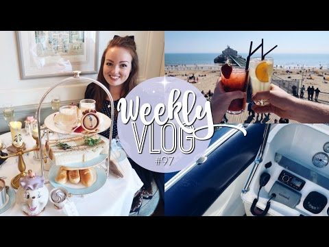WEEKLY VLOG #97 | BEAUTY & THE BEAST AFTERNOON TEA! ♡ | Brogan Tate