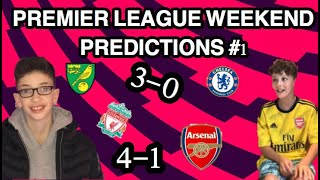 WEEKLY PREMIER LEAGUE PREDICTIONS WITH FFTVDAILY #1