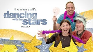 the ellen staffs dancing with the stars recap brings new york vegas to the cube