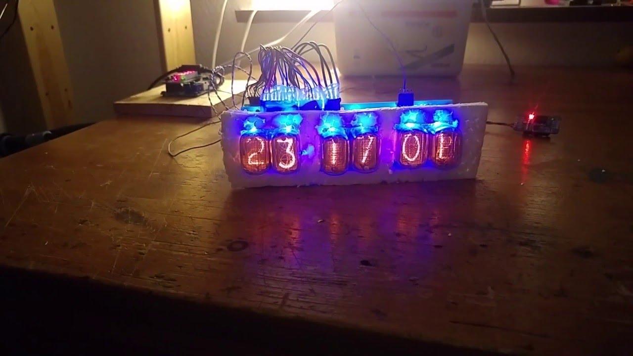 Digit nixie clock kit open source arduino funnydog tv