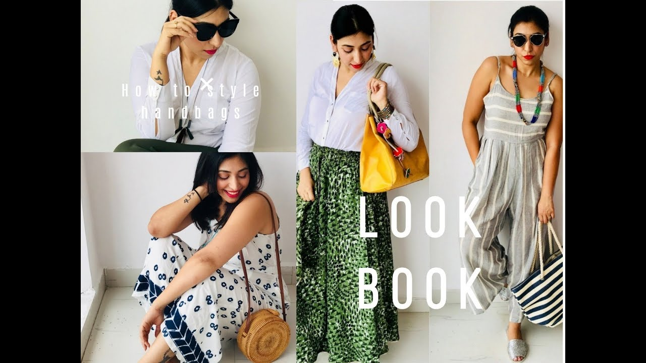 [VIDEO] - Handbag LookBook 2018 | How to Style different bags | Indian Summer Fashion Trends | Glitter & Glaze 7