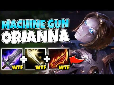 BECOME A LEGIT MACHINE GUN WITH ON-HIT ORIANNA TOP LANE! (POOL PARTY SKIN) - League of Legends
