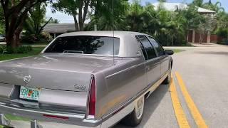 Immaculate 1996 Cadillac Fleetwood Brougham 68k walk around and test drive by Anthony