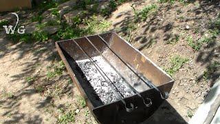 Как  сделать необычный мангал из трубы!(Как своими руками сделать необычный мангал? Мангал для дачи. Мы покажем вариант из трубы. Многие любят шашлы..., 2015-05-24T11:21:12.000Z)