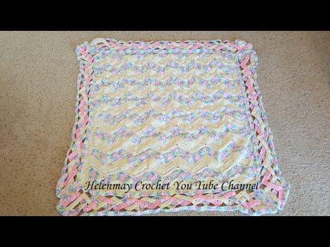 Crochet Heirloom Rainbow Chevron Baby Blanket DIY Tutorial - YouTube