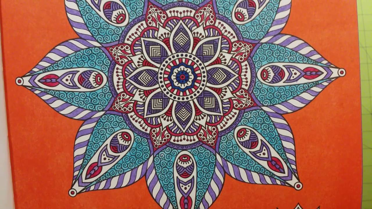 The mandalas creative coloring for adults coloring book review flip through